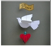Dove and Heart Ornament