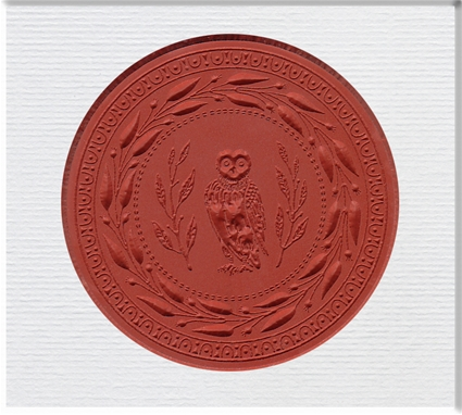 Medallion Stamp Owl