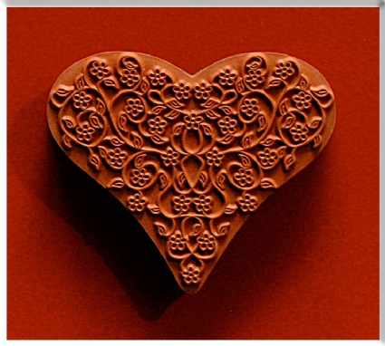 Heart Trellis Stamp