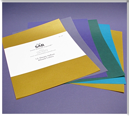 colored vellum paper Translucent vellum paper is perfect for wedding invitations, announcements, scrapbooking, rubber stamping, paper crafts and card making to name a few.